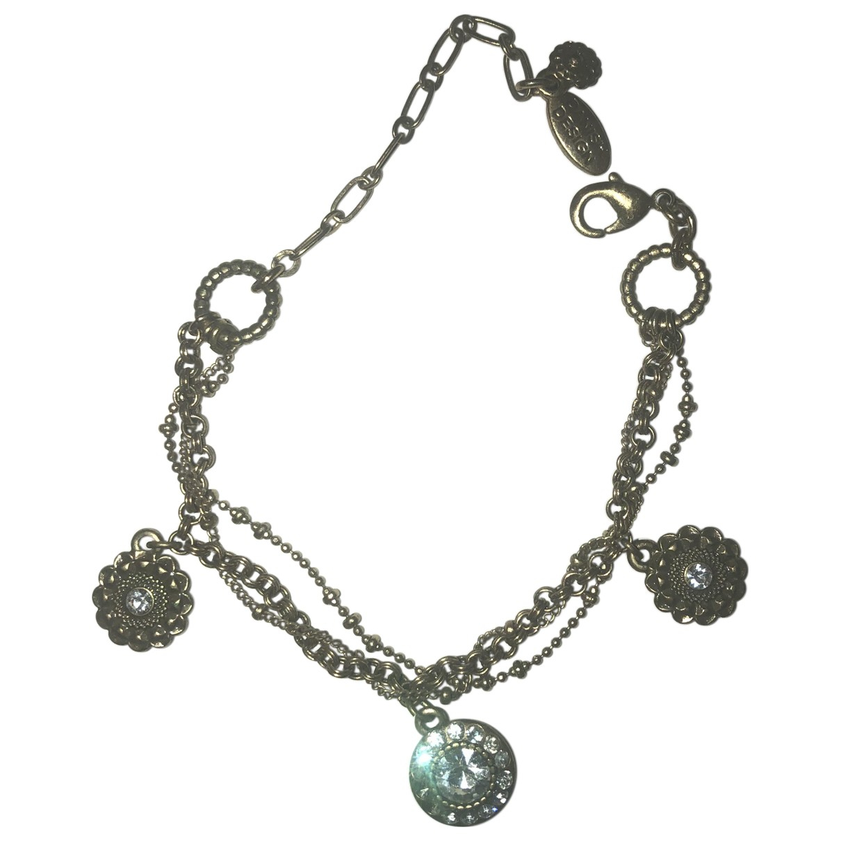 Non Signe / Unsigned \N Armband in  Silber Stahl