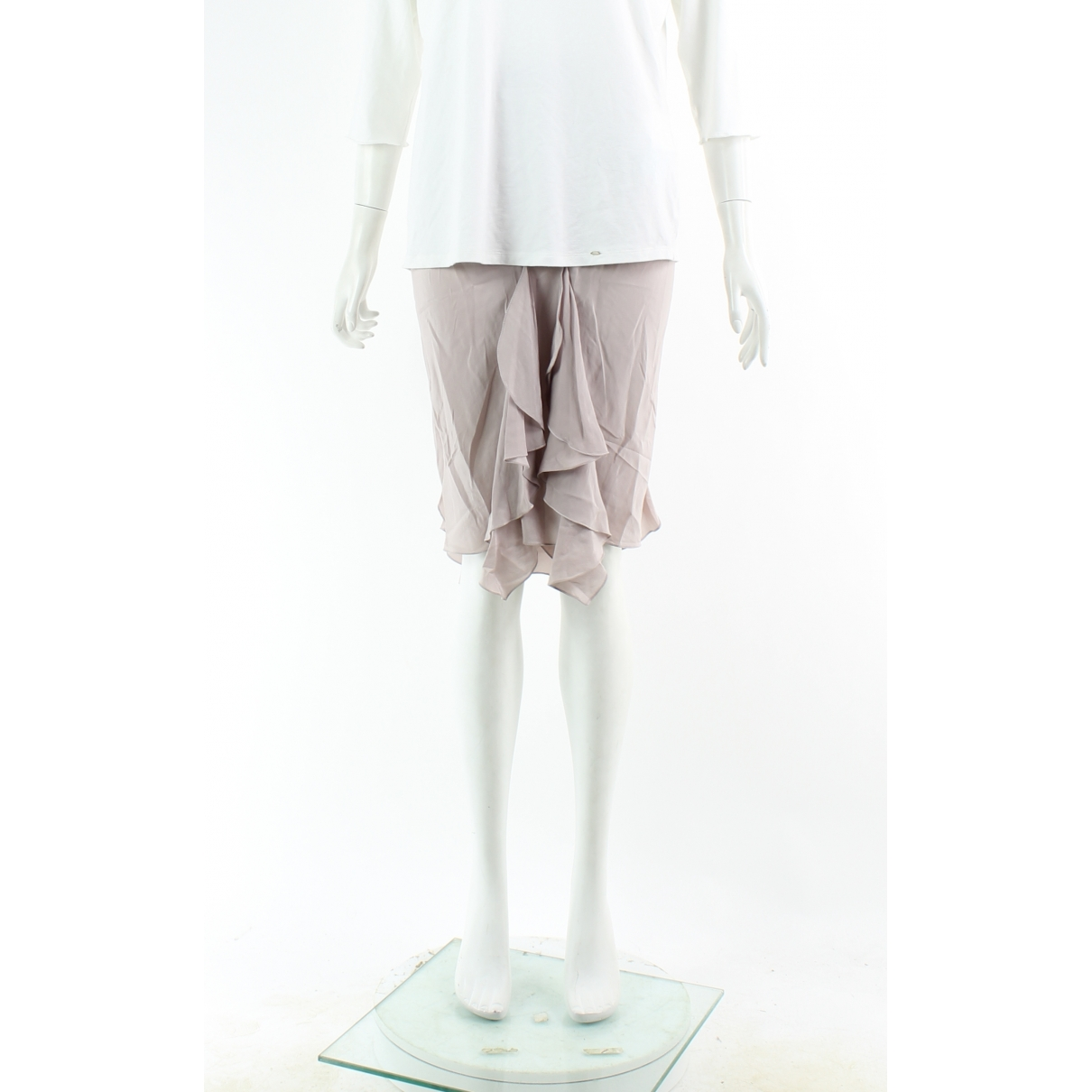 Yves Saint Laurent \N Beige Silk skirt for Women 36 FR