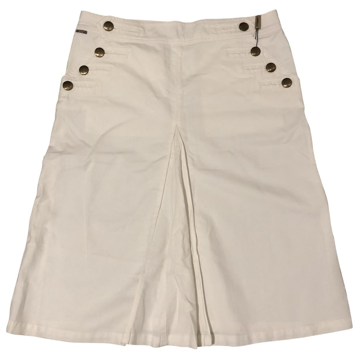 Burberry \N White Cotton skirt for Women 40 FR