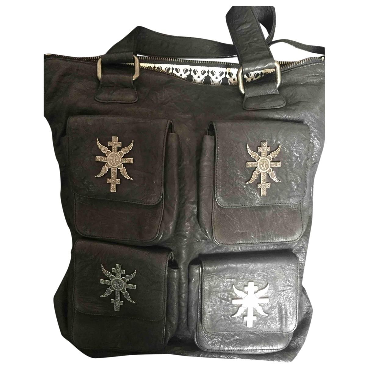 Thomas Wylde \N Handtasche in  Schwarz Leder