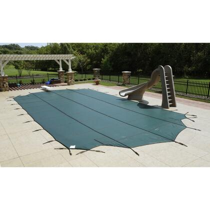 WS425G Green 12-Year Mesh Safety Cover For 25 x 45 Rectangular Pool in