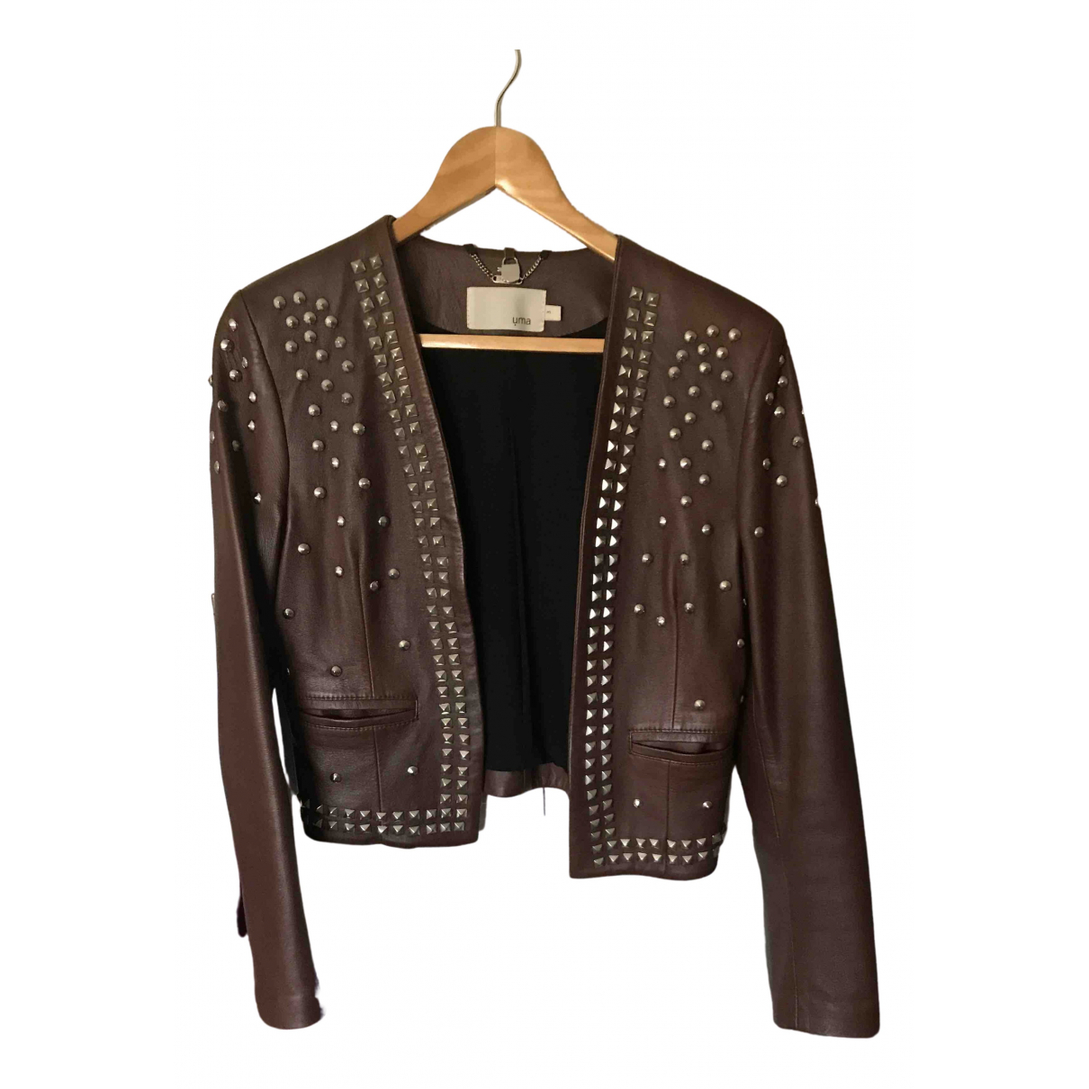 Non Signé / Unsigned N Brown Leather jacket for Women 3 0-5
