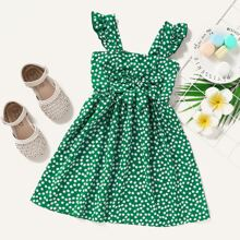 Toddler Girls Ditsy Floral Print Bow Front Cami Dress