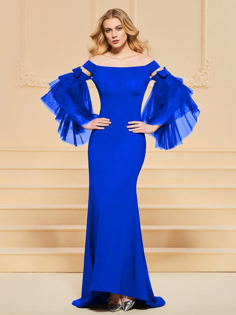 Ericdress Off The Shoulder Bell Sleeve Mermaid Evening Dress