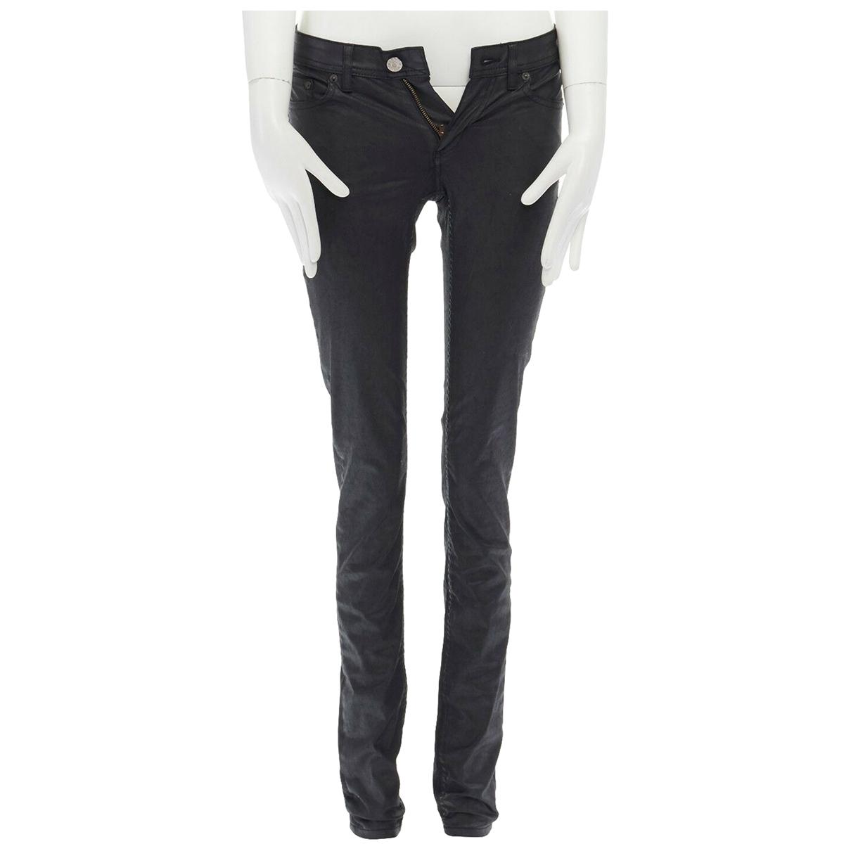 Acne Studios \N Black Cotton Jeans for Women 25 US