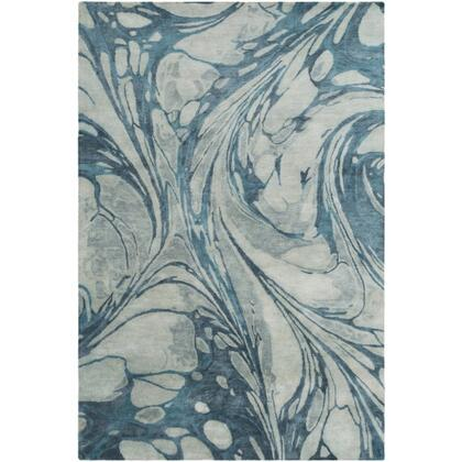 Pisces PIS-1004 8' x 10' Rectangle Modern Rug in Sea Foam  Teal