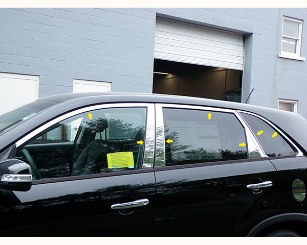 Quality Automotive Accessories 14-Piece Window Package with Pillars Kia Sorento 2011