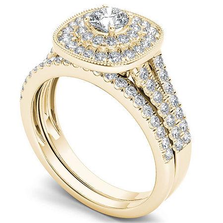 Womens 3/4 CT. T.W. Genuine White Diamond 14K Gold Bridal Set, 9 , No Color Family