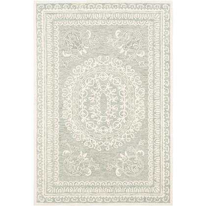 Newcastle NCS-2306 9' x 12' Rectangle Traditional Rug in Sea Foam  Sage