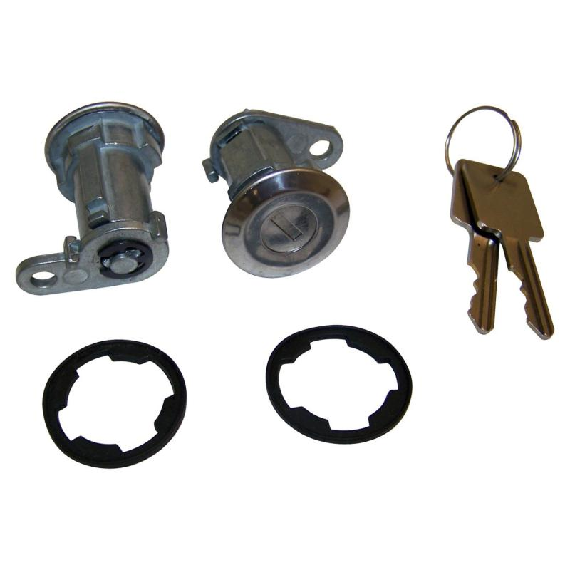 Crown Automotive 8122874K2 Jeep Replacement 2 Door Lock Cylinders w/ 2 Keys for Misc. 1981-1990 Jeep Vehicles Jeep