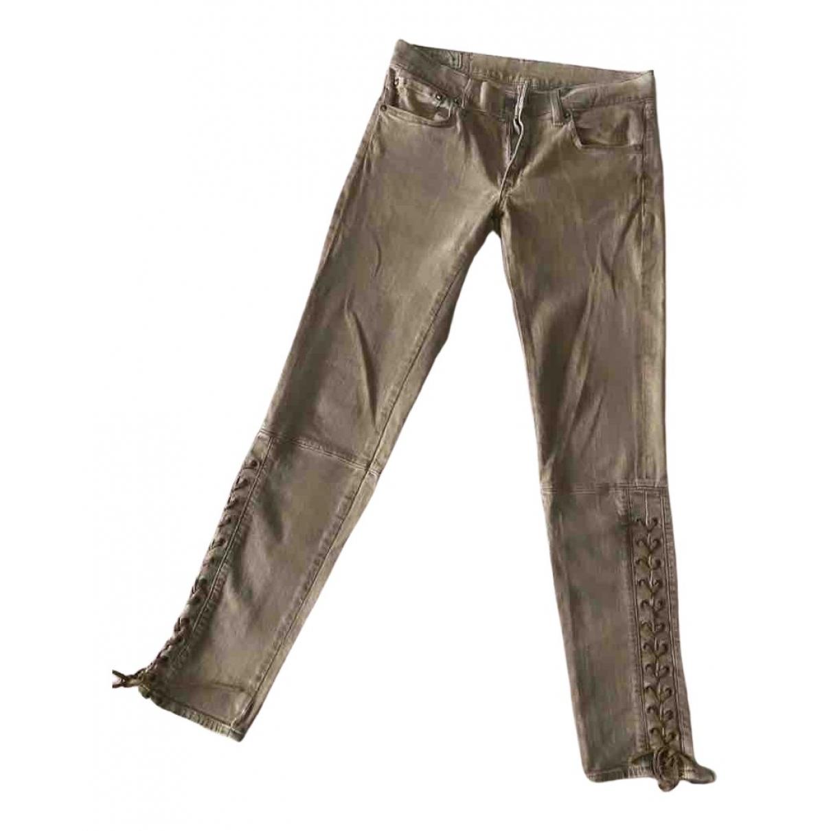 Polo Ralph Lauren N Brown Cotton - elasthane Jeans for Women 26 US