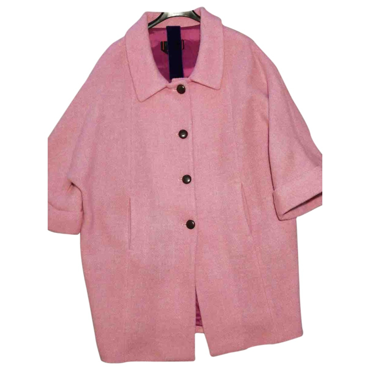 Femme By Michele Rossi - Manteau   pour femme en laine - rose