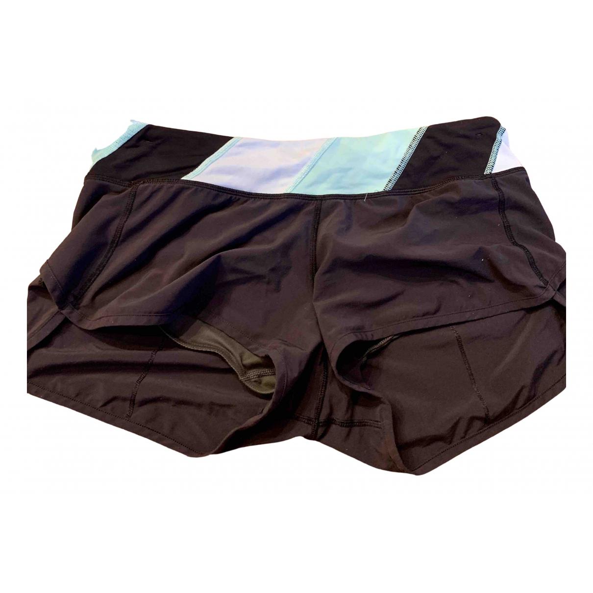 Lululemon \N Shorts in  Schwarz Leinen