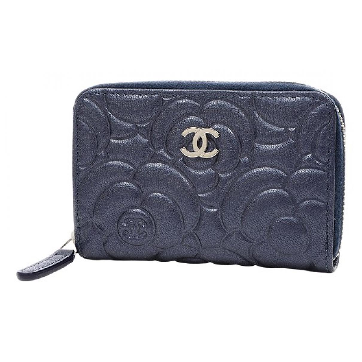 Chanel - Portefeuille   pour femme en cuir - multicolore