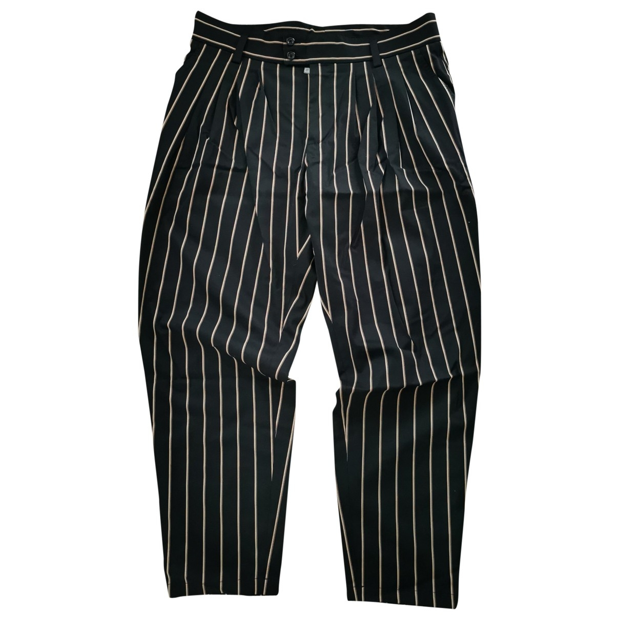 Dolce & Gabbana \N Black Cotton Trousers for Men 52 IT