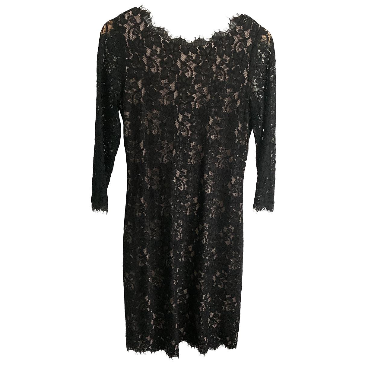 Diane Von Furstenberg - Robe   pour femme en dentelle - noir
