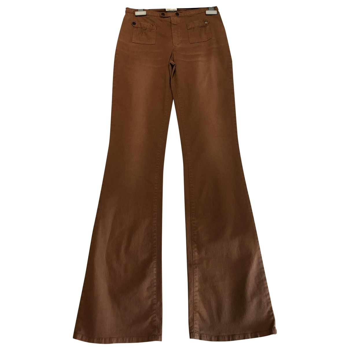 D&g \N Brown Cotton Trousers for Women 42 IT