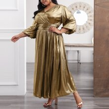 Vestidos Tallas Grandes Cremallera Liso Glamour