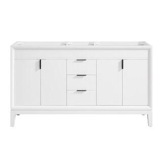 Avanity EMMA-V60 Emma 60 Double Free Standing Wood Vanity Cabinet (White)