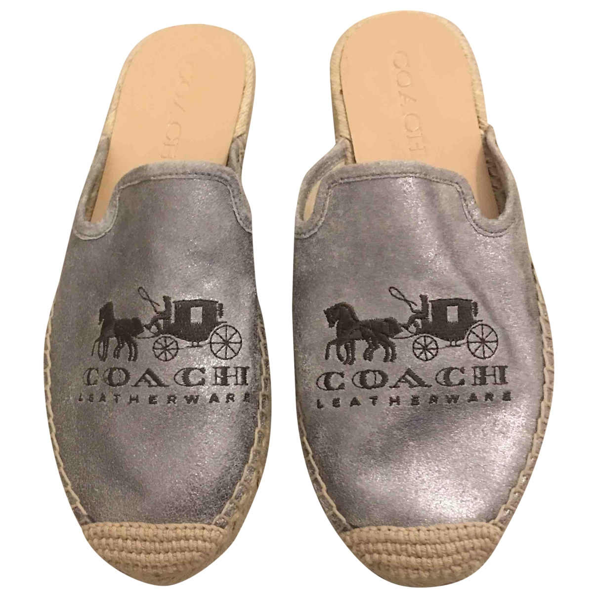 Coach \N Metallic Leather Espadrilles for Women 6 US