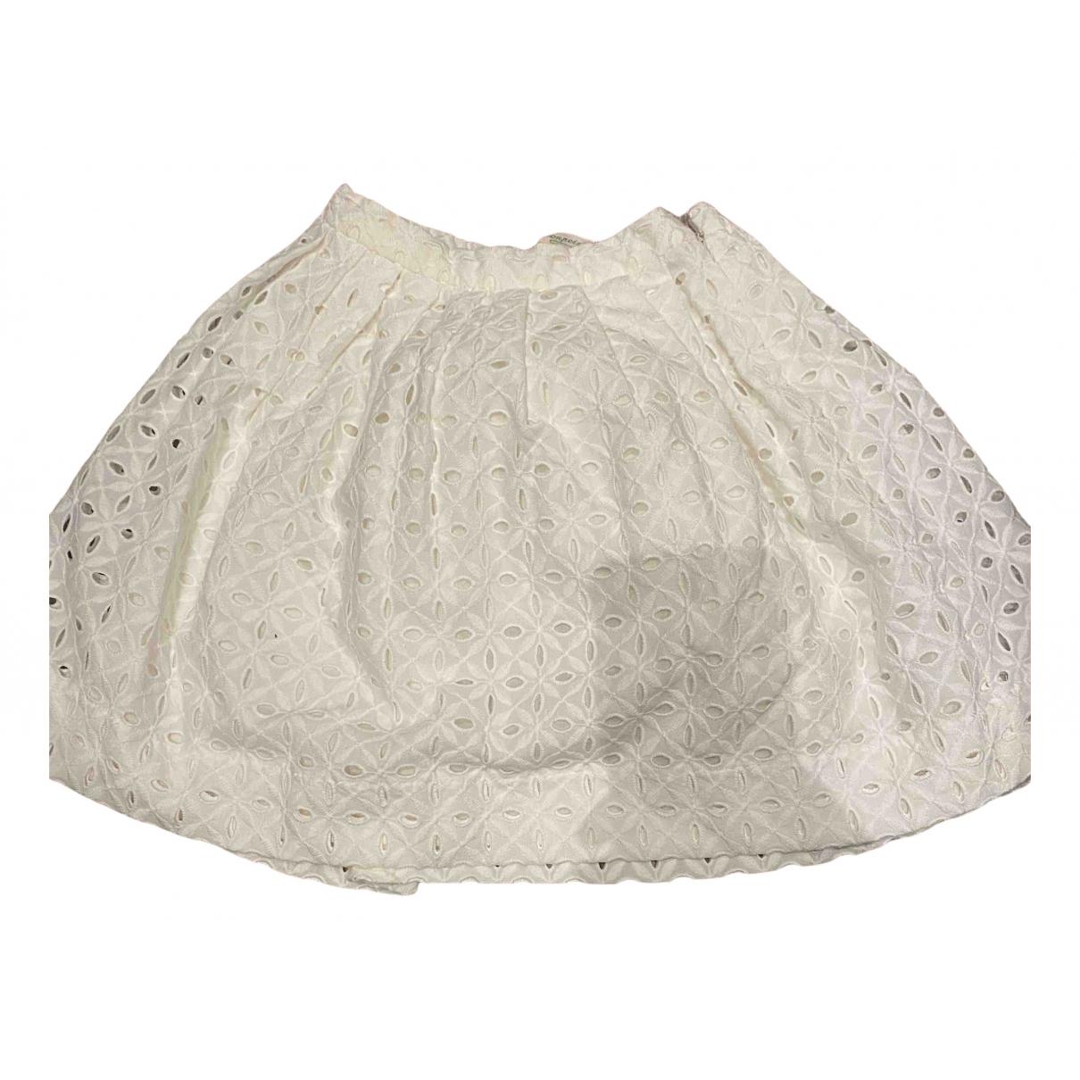 Bonpoint - Jupe   pour enfant en coton - blanc