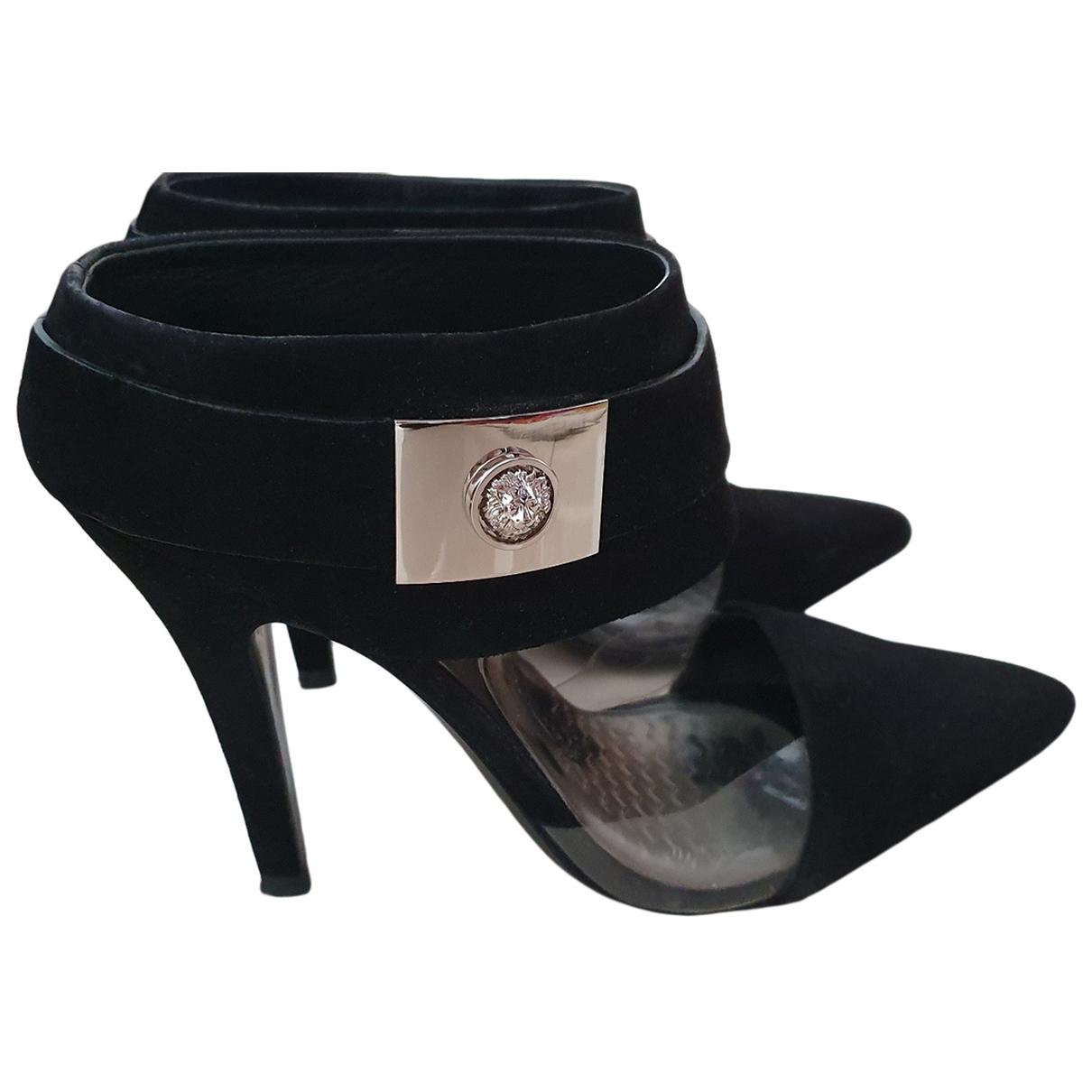 Versus - Sandales   pour femme en suede - noir