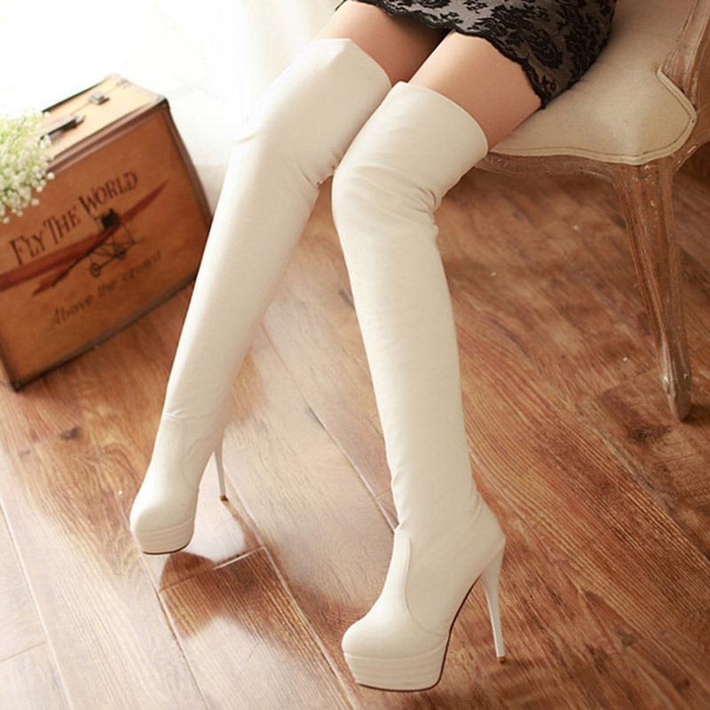 Ericdress Sexy PU Platform Knee High Boots