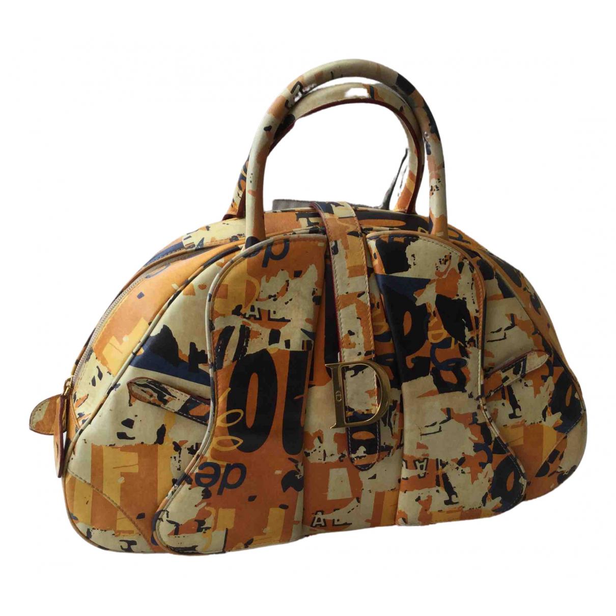 Dior Saddle Bowler Orange Leather handbag for Women N