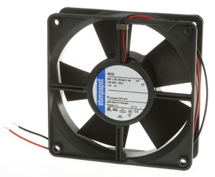 ebm-papst , 48 V dc, DC Axial Fan, 119 x 119 x 32mm, 170m³/h, 5W