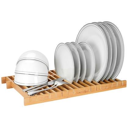 Égouttoir à vaisselle de cuisine en bambou 100% naturel - SortWise ™