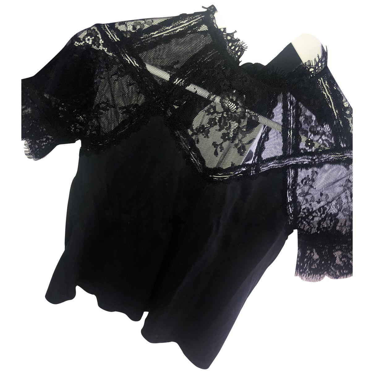 Claudie Pierlot - Top   pour femme en coton - noir