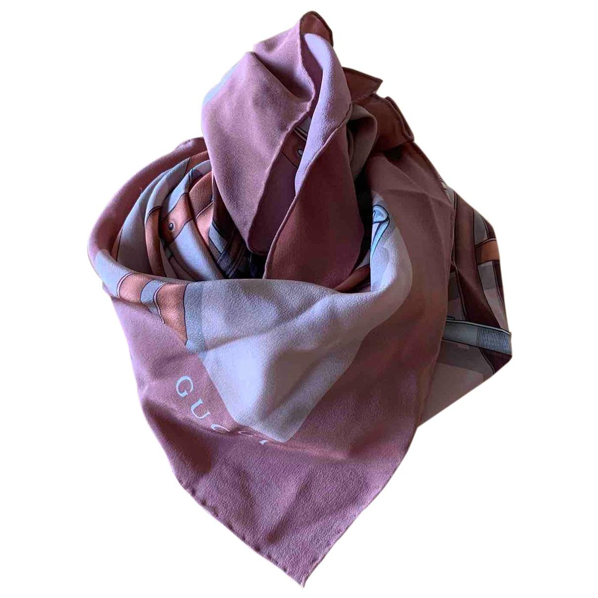 Gucci - Foulard   pour femme en soie - camel