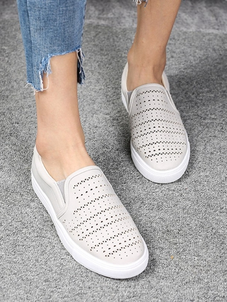 Yoins Breathable Casual Sheer Loafers