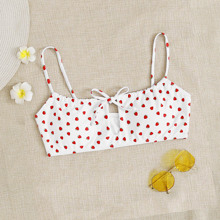 Bikini Top mit Erdbeere Muster