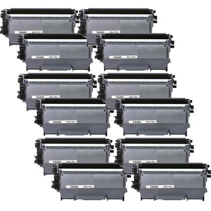Compatible Brother TN-450 cartouche de toner noire - boite economique - 12/paquet