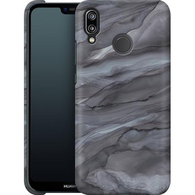 Huawei P20 Lite Smartphone Huelle - Black Watercolour Marble von Becky Starsmore