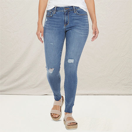 a.n.a Womens Ripped Jegging, 18 , Blue