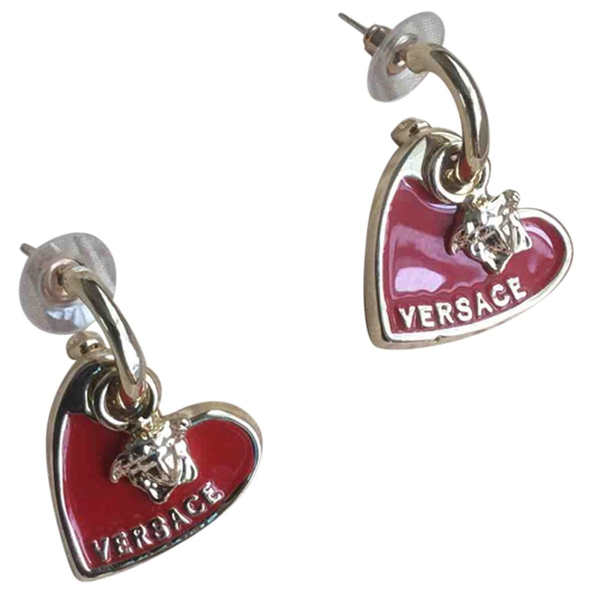 Versace - Boucles doreilles   pour femme en metal - rouge