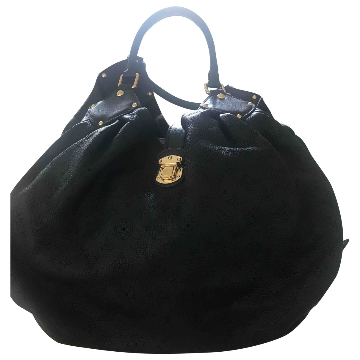 Louis Vuitton Mahina Black Leather handbag for Women \N