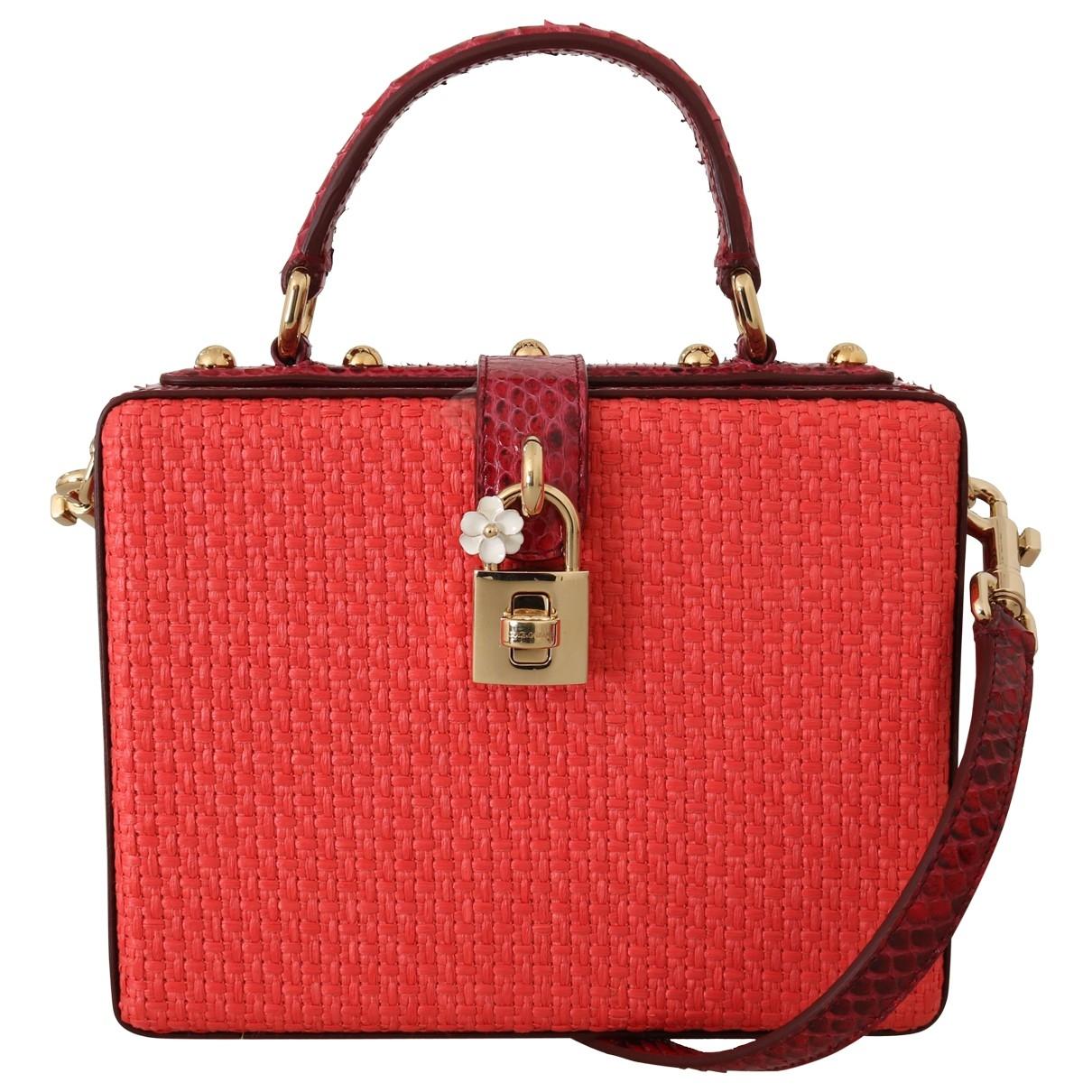 Dolce & Gabbana \N Handtasche in  Rot Stroh