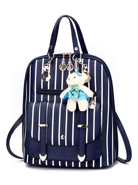 Milanoo Sweet Lolita Bag Black PU Leather Backpack Lolita Accessories