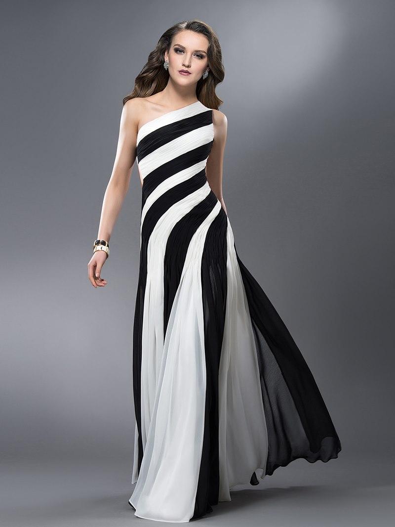 Ericdress Sheath One-Shoulder Ruched Evening Dress