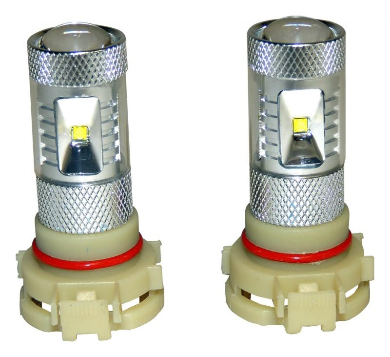 RT Offroad RT28049 PSX24W Fog Lamp Bulb Kit for Select 10-18 Jeep JK, WK, KL, MK; Set of 2