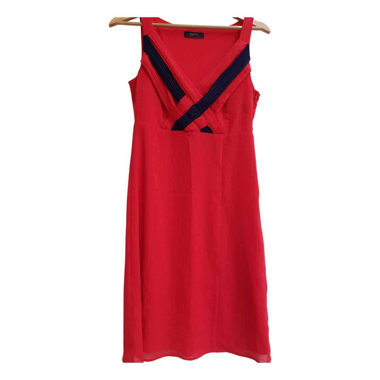 Esprit \N Kleid in  Rot Polyester