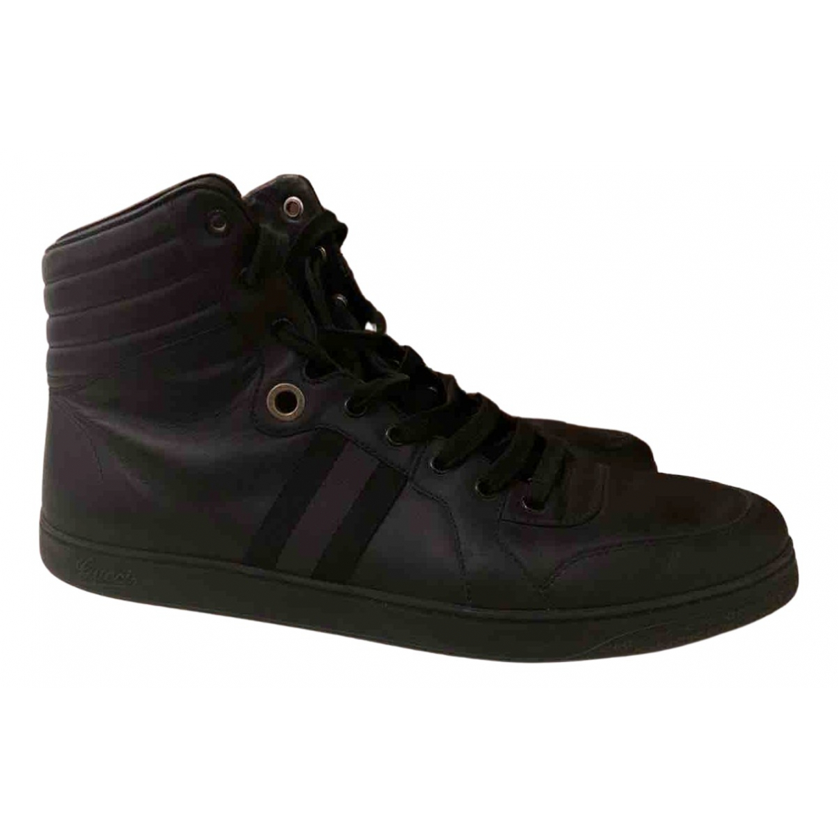 Gucci \N Black Leather Trainers for Men 47 EU