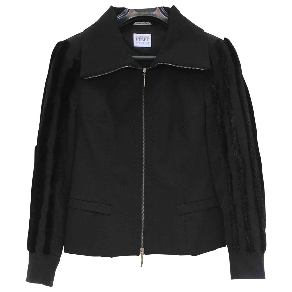 Gianfranco Ferré \N Black Leather jacket for Women 40 FR