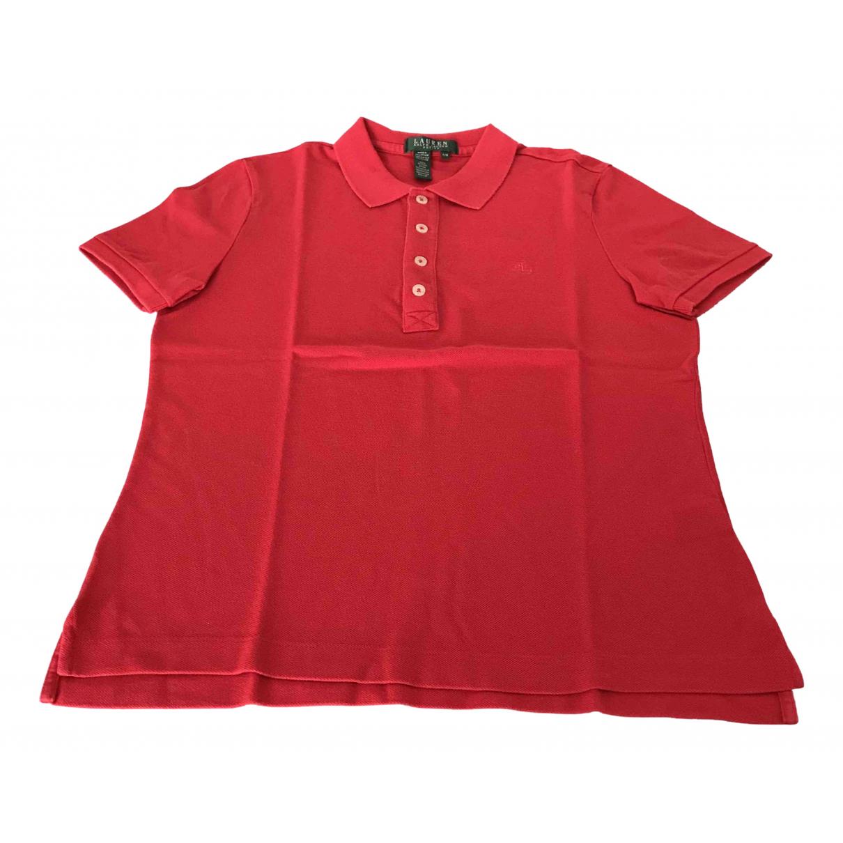 Top en Algodon Rojo Lauren Ralph Lauren