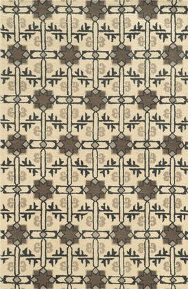 RPTRP877400370810 Rockport RP8774-8' x 10' Hand-Tufted 100% Premium Blended Wool  Rug in Ivory   Rectangle