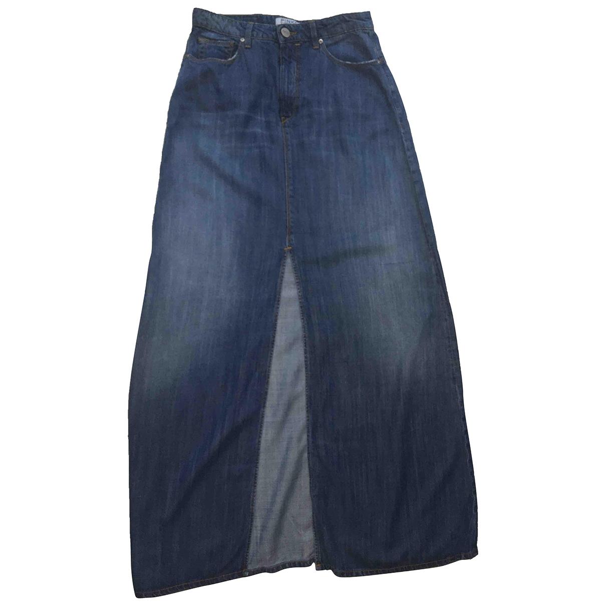 Pinko \N Blue Cotton - elasthane skirt for Women M International