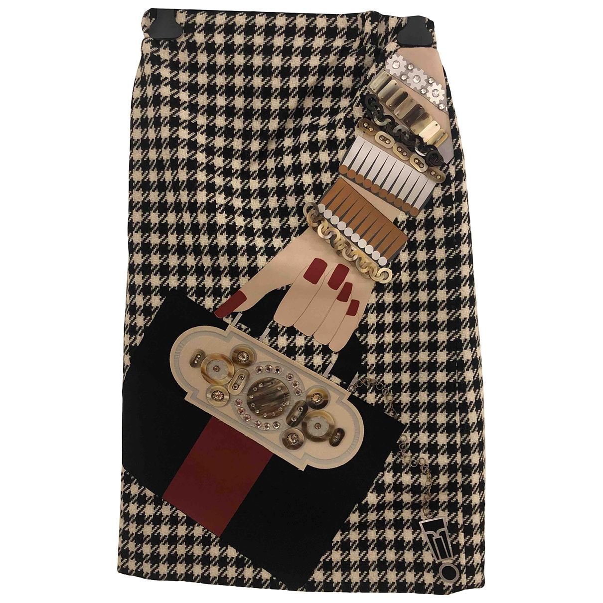 Holly Fulton - Jupe   pour femme en laine - noir